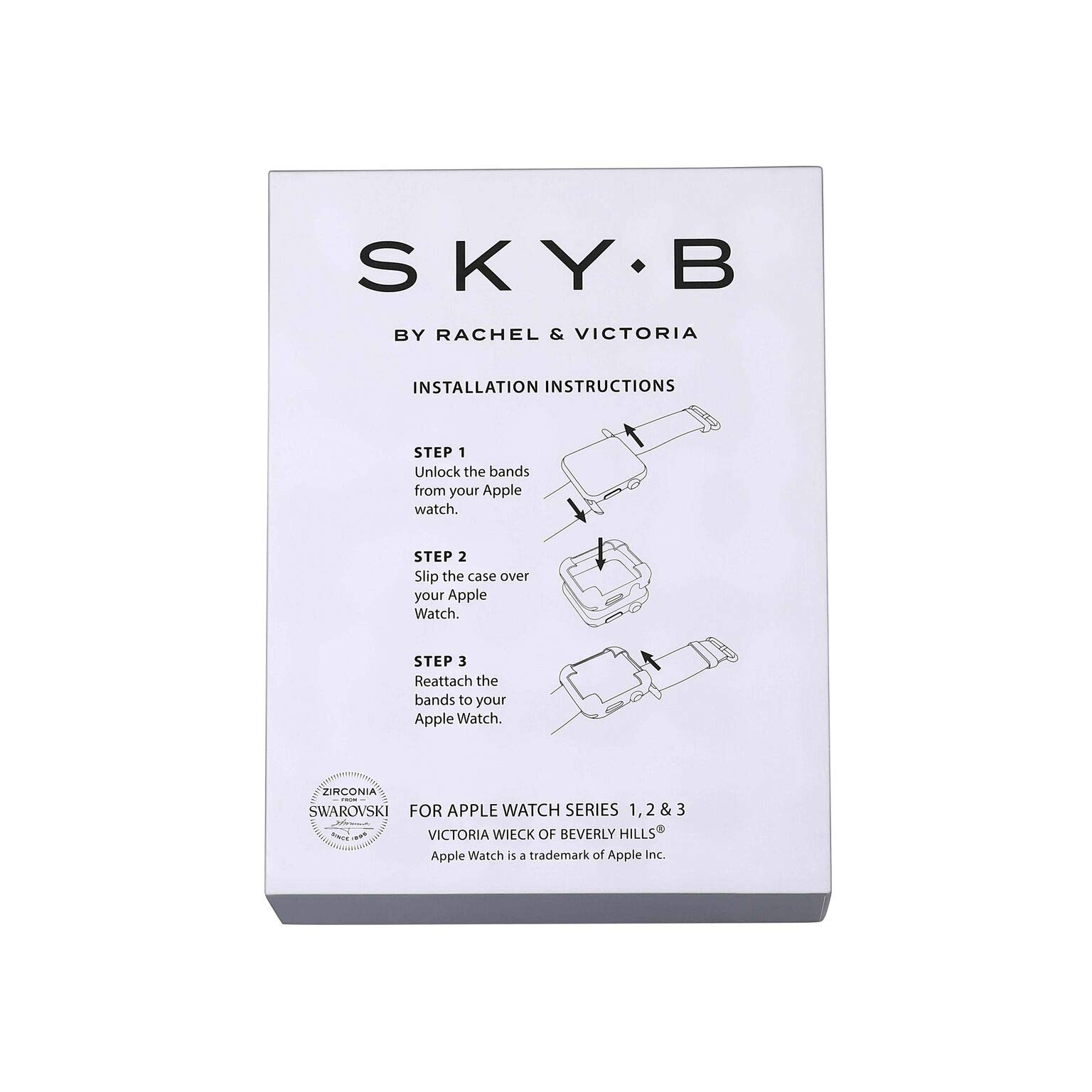 Matte Black Rhodium Plated Jewelry-Style Apple Watch Case with Genuine Spinel Pavé Corners - Large (Fits 42mm iWatch) by SkyB (Image #6)