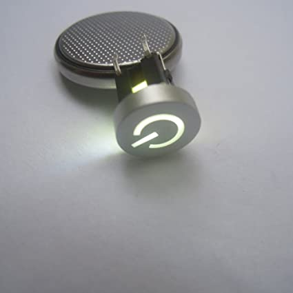 5pcs White Led Tactile Button Push Switch Momentary Tact With Led Round Cap Integrated Circuits