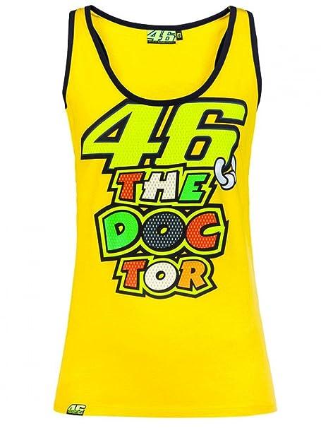Camiseta Sin Mangas Mujer Valentino Rossi 46 The Doctor Amarillo-Negro (M , Amarillo