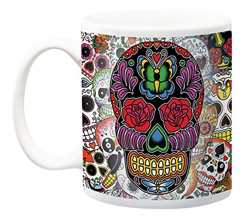 Aquarius Sugar Skulls Boxed Mug, 11oz