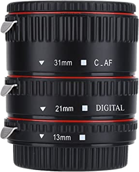 Metal Auto Focusing Macro Extension Adapter Tube Ring Set for Canon EOS EF Lens