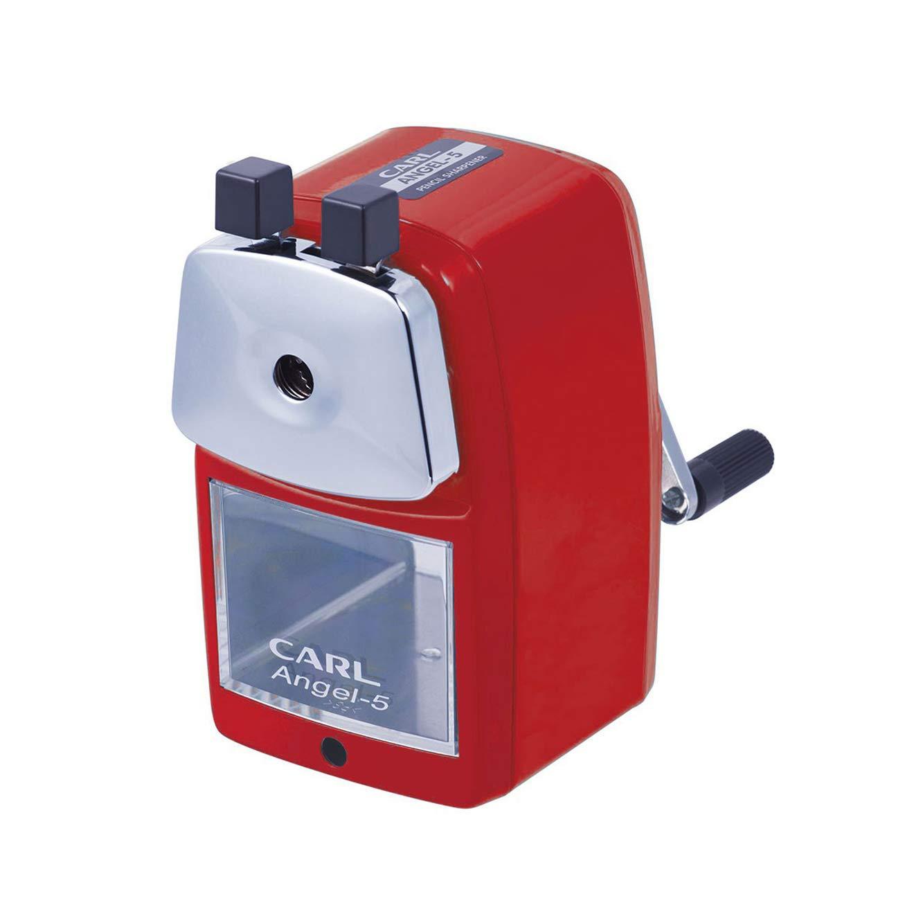 CARL Angel-5 Pencil Sharpener, Red CARL / Pencils Etc. Carl A-5 Angel 5