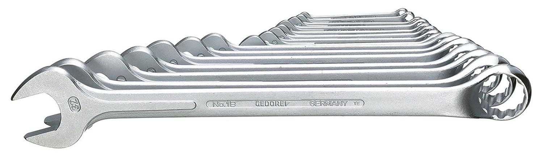Ring 15/° abgewinkelt DIN 3113 Form A leicht durch schlankes Maul und schmale Maulw/ände UD-Profil 1 GEDORE 7 1AF Ring-Maulschl/üssel matt Verchromt ergonomisch und handlich