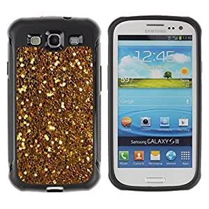 Jordan Colourful Shop@ Gold Shiny Glitter Yellow Coins Treasure Rugged hybrid Protection Impact Case Cover For S3 Case ,I9300 Case Cover ,I9308 case ,Leather for S3 ,S3 Leather Cover Case