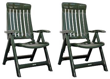 Gartenstühle kunststoff grün  Amazon.de: 2x Steiner MARINA Klappstühle Gartenstühle klappbar ...