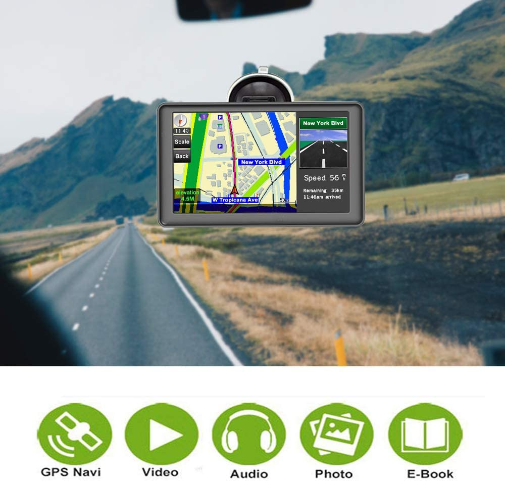 In-Dash Navigation Driver Alerts Latest Map Touchscreen 7 Inch 8G ...