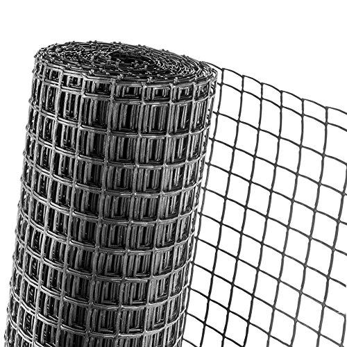 KUNSTSTOFFZAUN 0, 5m Hö he Masche 40mm Geflü gelzaun in anthrazit (Meterware) Novmax