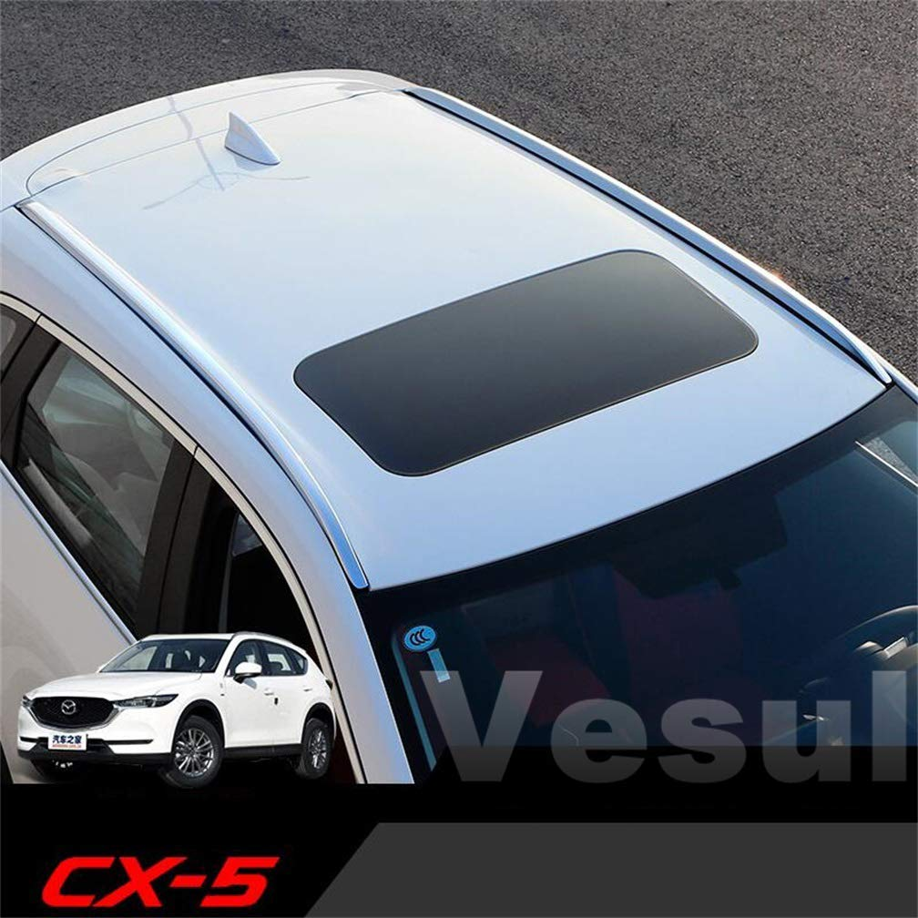Vesul Aluminum Alloy Top Luggage Carrier Roof Rack Cargo Side Bars Rails Compatible with Mazda CX5 CX-5 2017 2018 2019