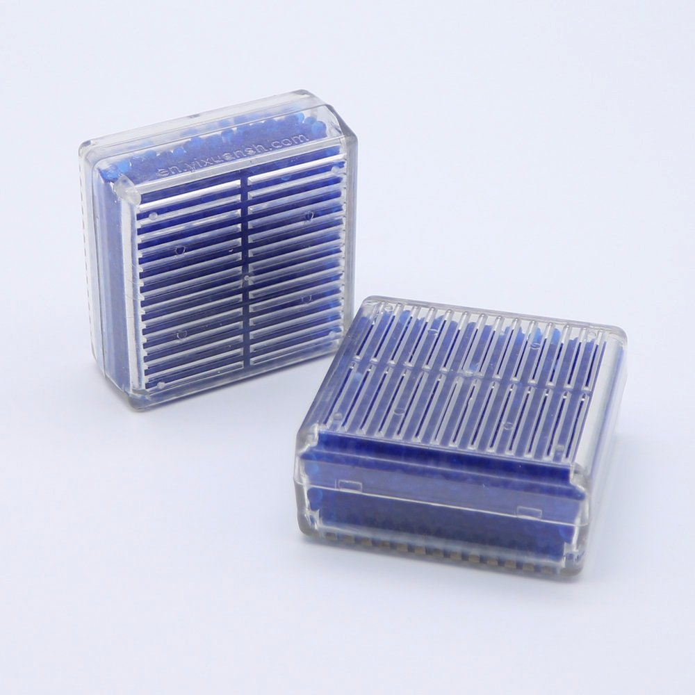 4 Pcs Useful Silica Gel Desiccant Humidity Moisture For Absorb Box Blue Gell Reusable Beess