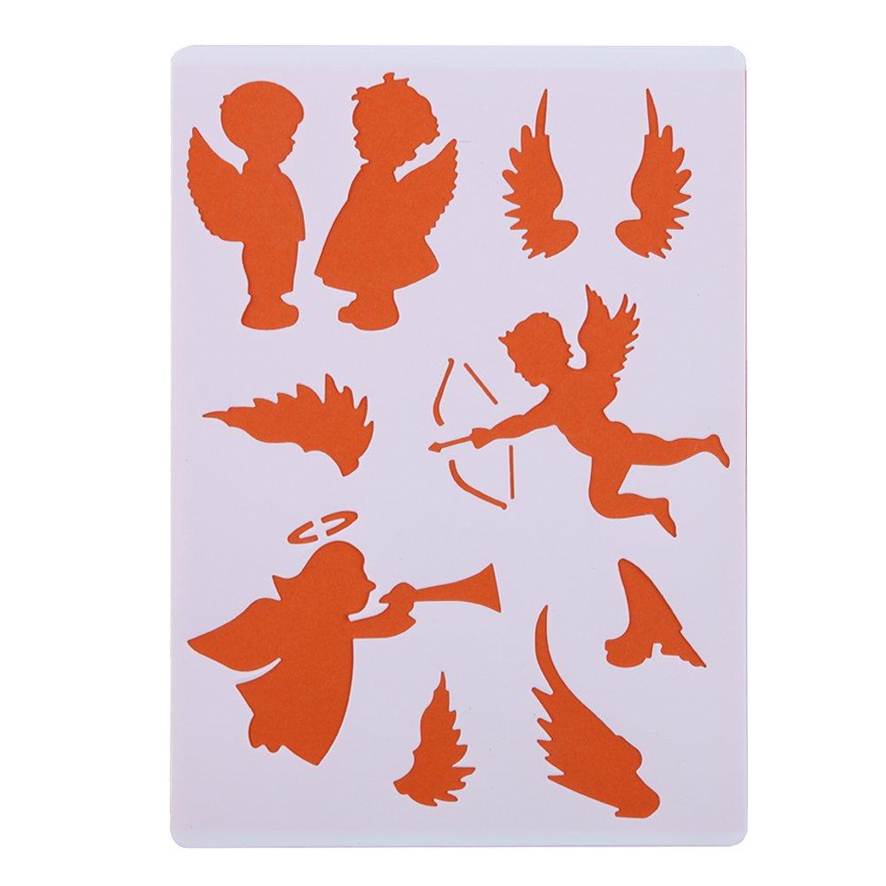 Demiawaking 6pcs Layering stencil da parete DIY pittura scrapbooking goffratura stencil template Paper Cards decorativo scrapbook 01