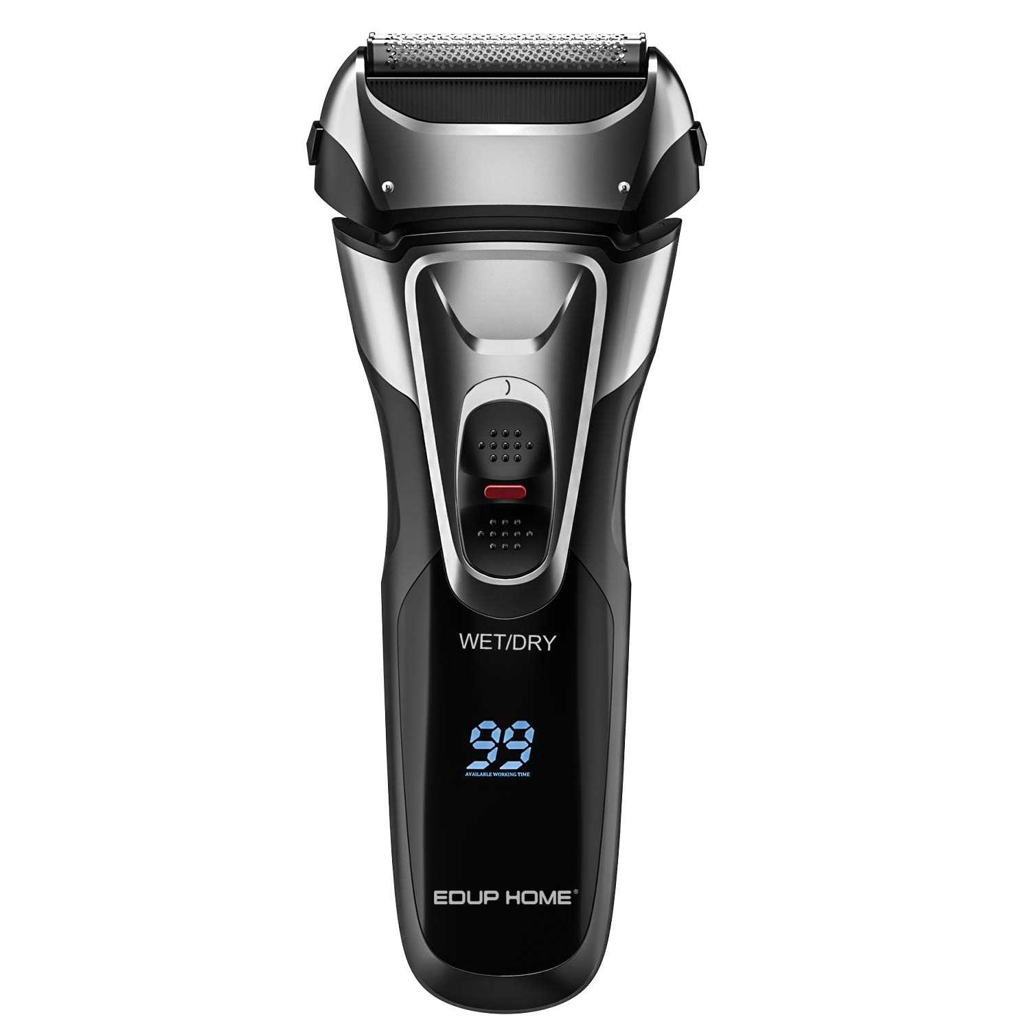 Electric Shaver with Pop-up Trimmer for Men, Men's Electric Razor Cordless Foil Shaver, IPX7 Waterproof, Charge 1.5H Work 99 Mins, Plug and Play, USB Quick Charging, LCD Display Battery Power