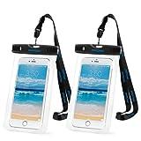 foto                       Custodia Impermeabile Mpow Custodia Impermeabile Antiurto Snowproof Antipolvere Pouch Bag con [IPX8 Certified], per iPhone 6/6S e altri cellulari di Apple & Android meno di 6 pollici - 2 Pezzi