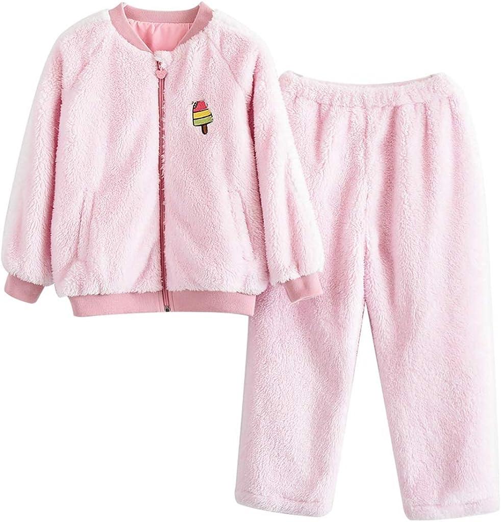 Pijamas para niñas. Invierno de Franela Engrosada en el Traje ...