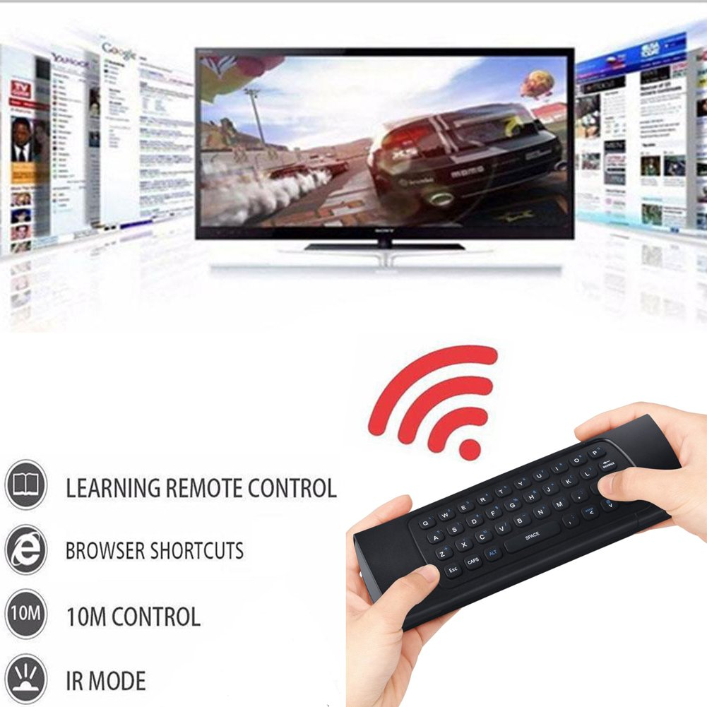 REDGO Air Mouse, 2.4G MX3 Portable Mini Wireless Qwerty Keyboard Mouse, Multifunctional Infrared Remote Control for Android Smart TV Box IPTV HTPC Mini PC Windows IOS MAC Xbox by REDGO (Image #4)