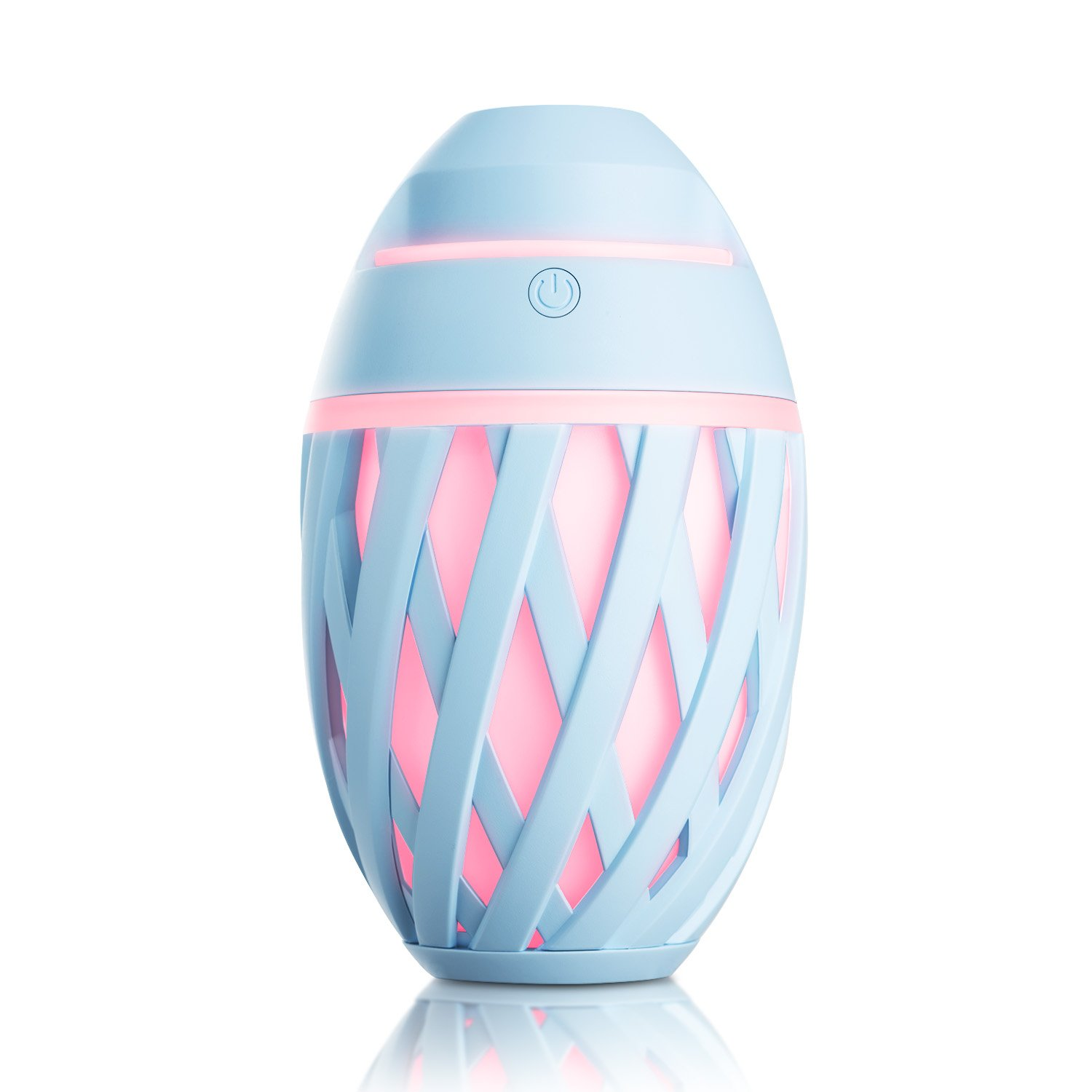 SRIWATANA Mini Cool Mist Humidifier, Olive Portable USB Humidifier Whisper Quiet and Colorful LED Lights Air Humidifier for Home, Car, Office and More
