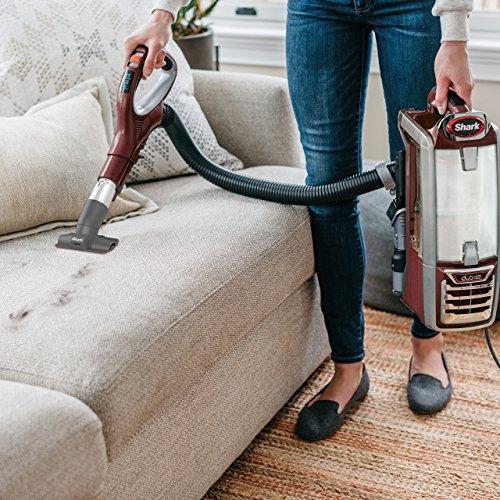 Shark DuoClean Powered Lift-Away Speed Upright Vacuum, Cinnamon (NV803)
