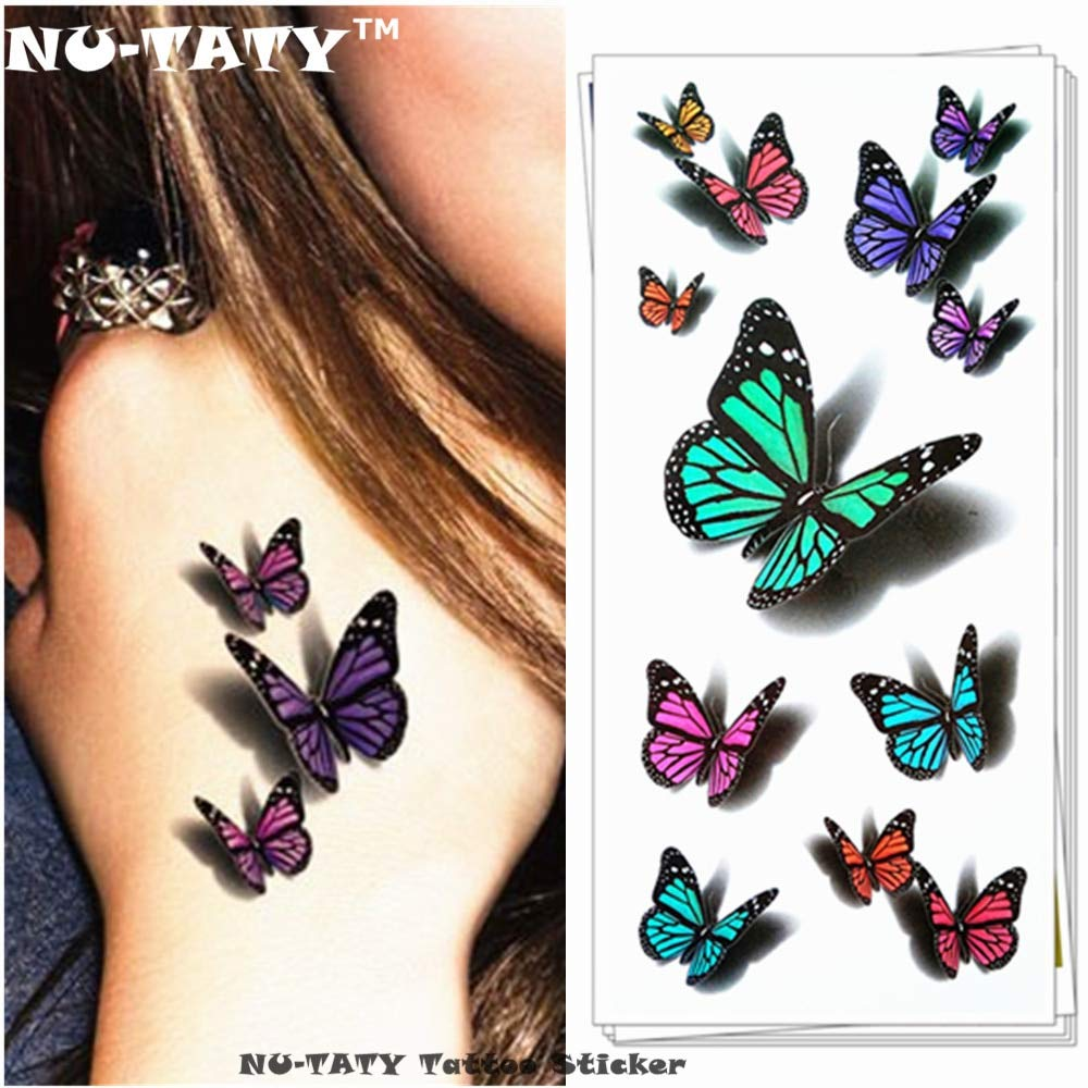 BRT Nu-taty Increíble Mariposa 3d Tatuaje Temporal Body Art Flash ...