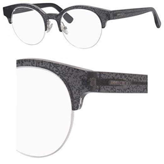 ba8688d8fc1 Image Unavailable. Image not available for. Color  Jimmy Choo Jimmy Choo  151 0RBY Black Glitter Eyeglasses