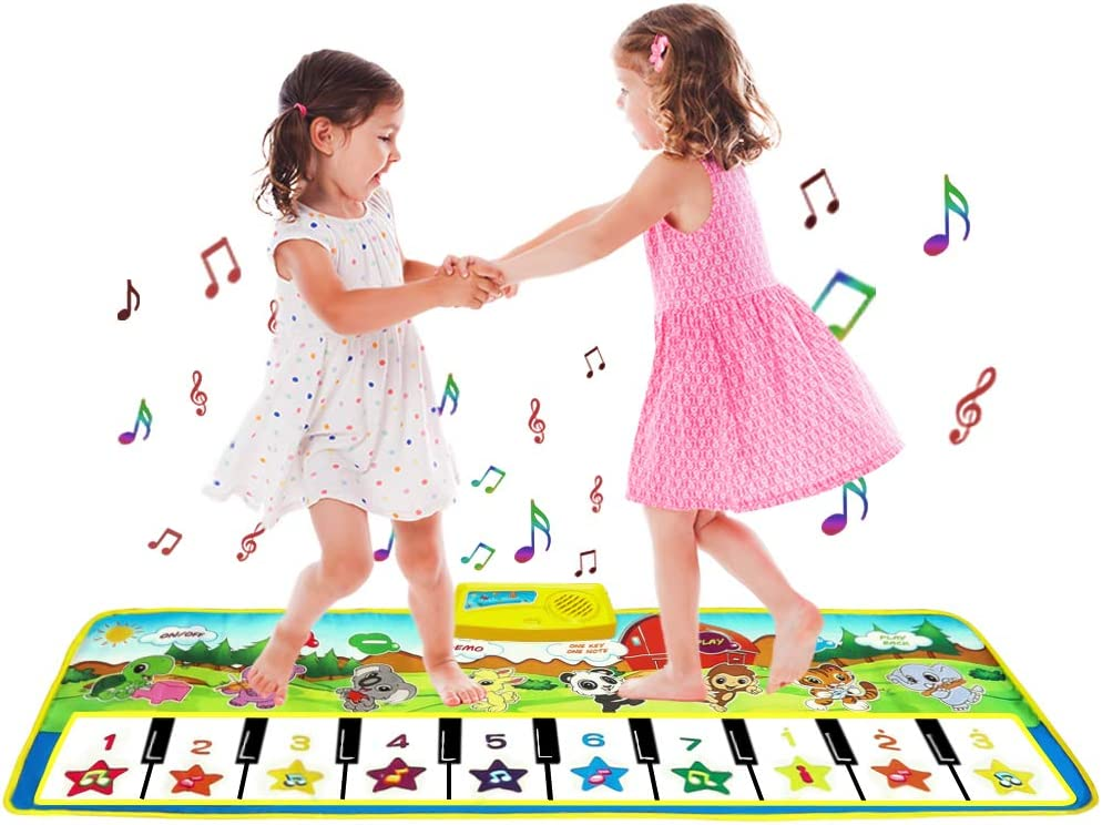 SANLINKEE Piano Mat for Kids, Music Mats Touch Play Musical Carpet WAS £14.99 NOW £4.49 w/code HKA25HGX @ Amazon