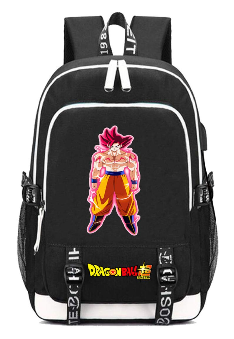 Dragon Ball  12 Cosstars Dragon Ball Anime Rucksack Schoolbag Laptop Backpack with USB Charging Port and Headphone Jack  9