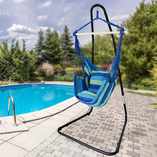 Sorbus Hanging Rope Hammock Chair Swing Seat With