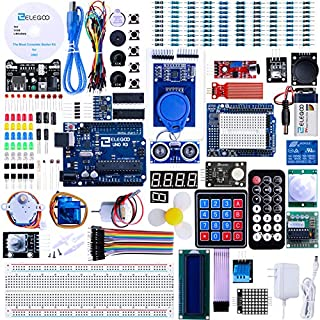 ELEGOO UNO R3 Project Most Complete Starter Kit w/Tutorial Compatible with Arduino IDE (63 Items)