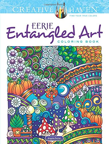 Creative Haven Eerie Entangled Art Coloring Book (Adult (Scary Halloween Pumpkins Coloring Pages)