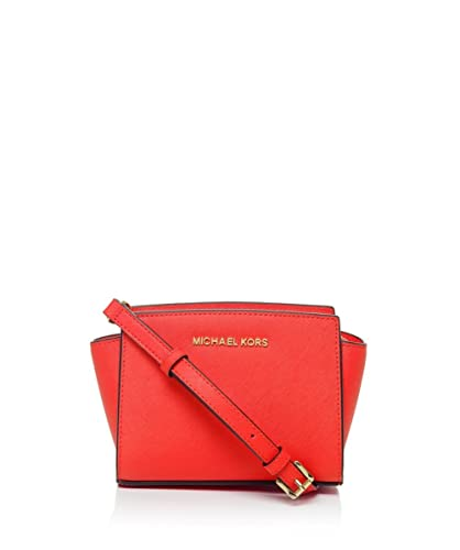 amazon com michael kors selma mini messenger in mandarin shoes rh amazon com