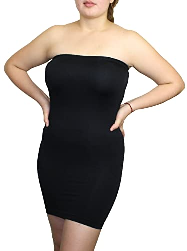 Women's Seamless Strapless Fitted Mini Dress One Size Fits All