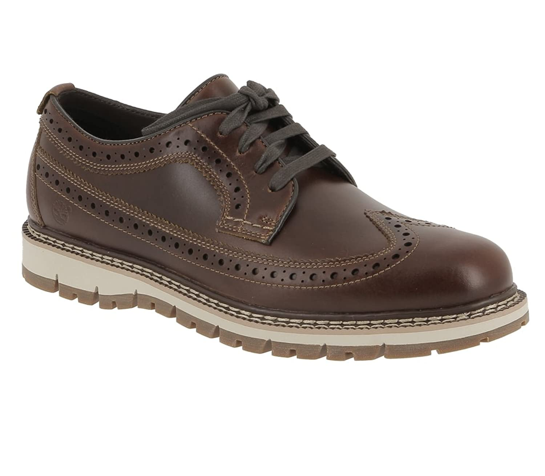 7aa639ec9492 Timberland Men s Mens Britton Hill Wingtip Dark Brown Ca184z Boots ...