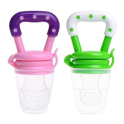 Chupete con fruta fresca sin BPA, 2 unidades Pink + Green ...