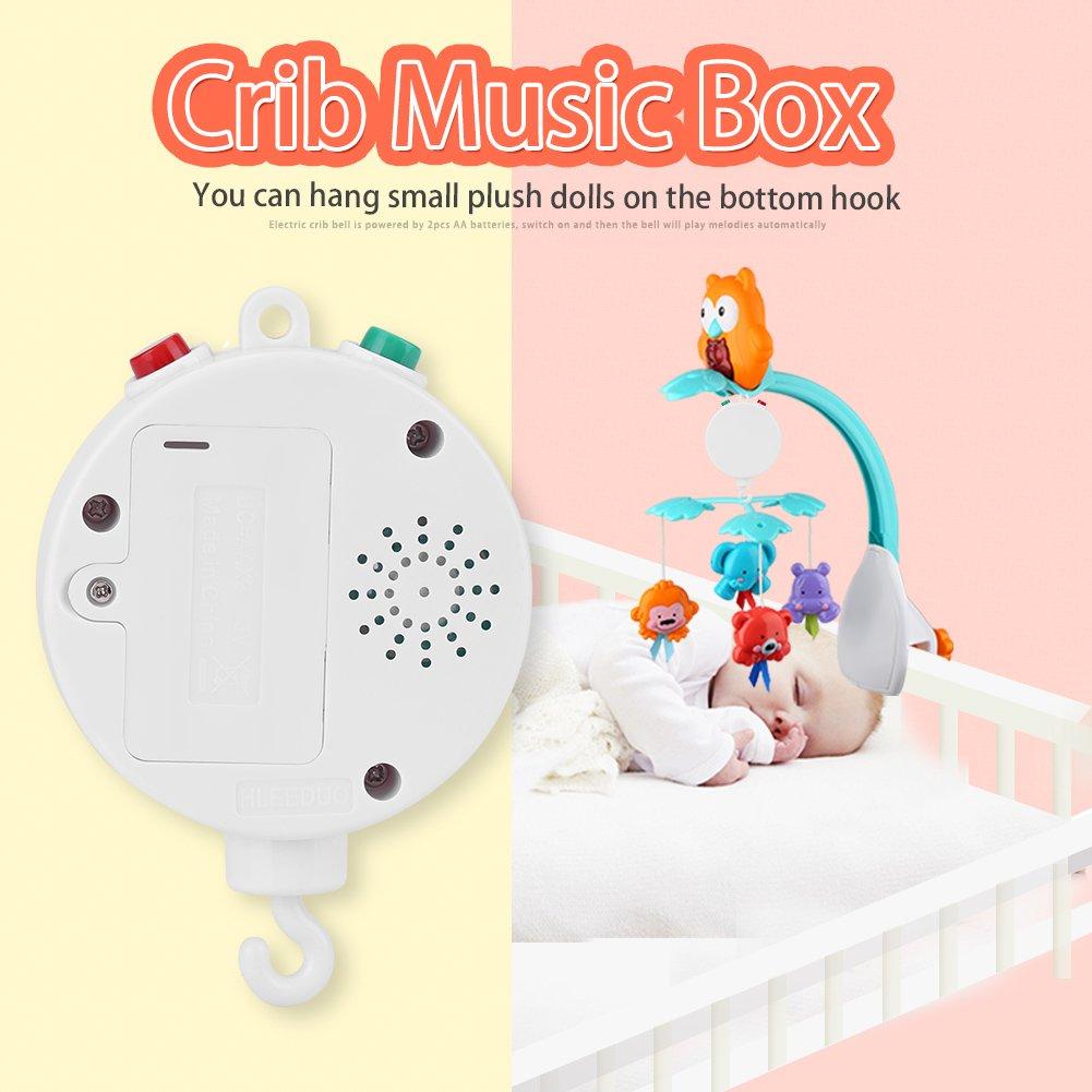 Baby Crib Mobile Music Box Ropa de Cama para Beb/és Musical Bell Doce Dulces Melod/ías con Pilas
