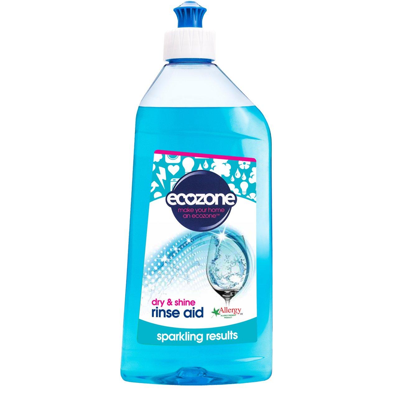 (4 PACK) - Ecozone Dishwasher Rinse Aid | 500ml | 4 PACK - SUPER SAVER - SAVE MONEY