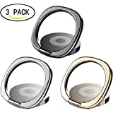Phone Ring Holder,360° Rotation Universal Cell Phone Finger Ring Grip Stand (3 pack)