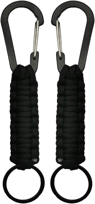 TOLIANCLE Juego de 3 llaveros Survival Paracord Parac Cuerda Llavero mosquet/ón