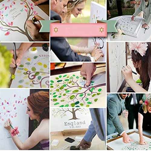 Gens Livre D'or De Mariage Qui Portent Peinture Sur Toile Signature Robes De Mariage D'empreintes Digitales De Mariage (pas De Boîte), 50 * 70 40 * 60