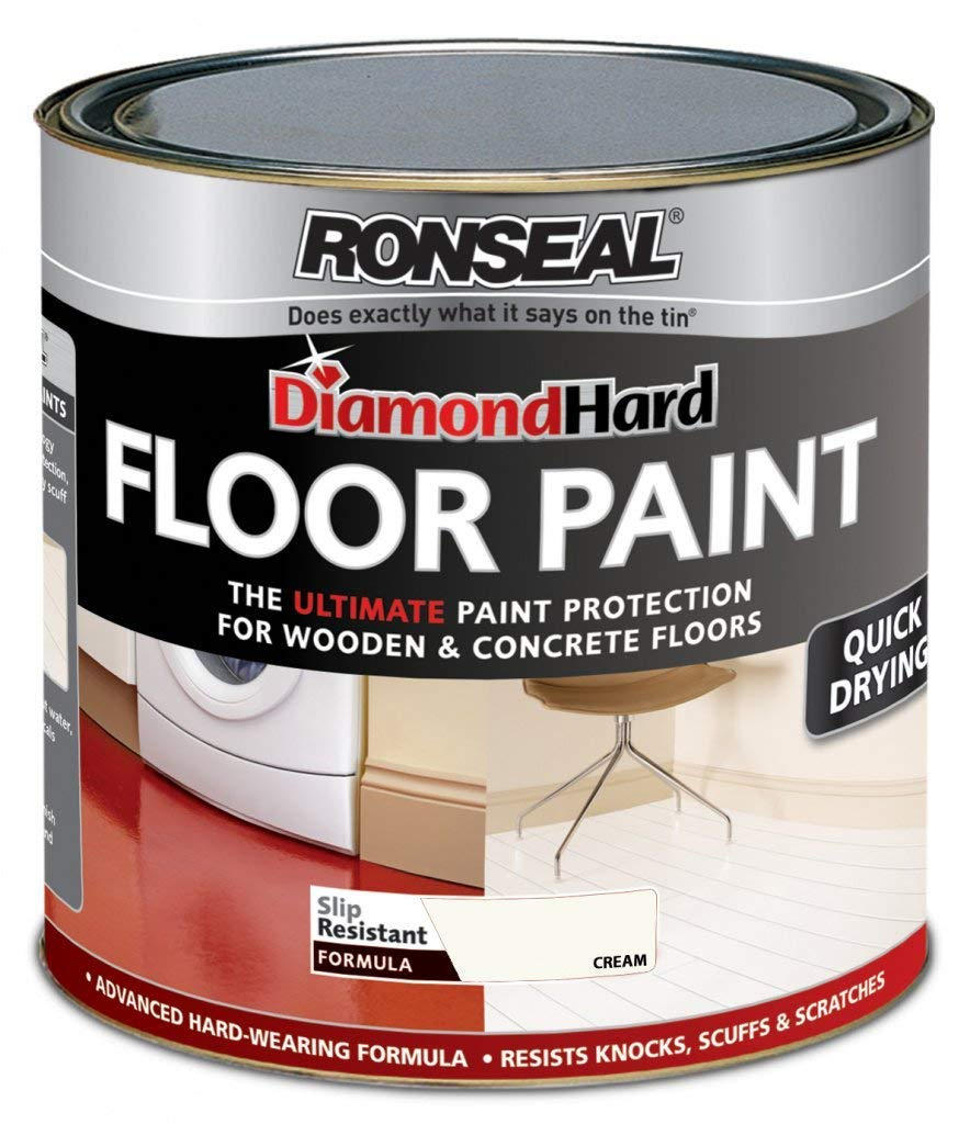 Ronseal Diamond Hard Floor Paint 750ml Cream