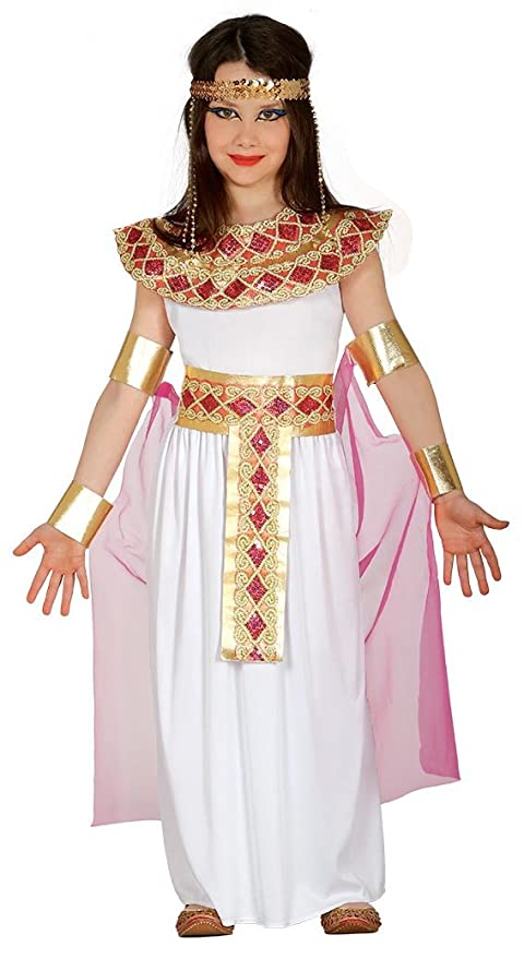a570c955269e Costume da regina egiziana Cleopatra Nefertari bambina: Amazon.it ...