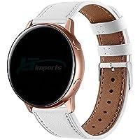 Pulseira de Couro 20mm para Samsung Galaxy Watch Active 40mm 44mm - Galaxy Watch 3 41mm - Galaxy Watch 42mm - Amazfit…
