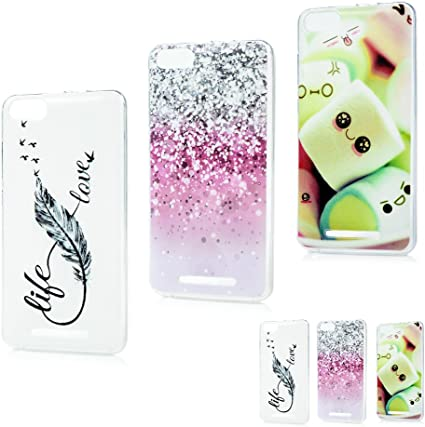 MAXFE.CO 3X Coque Wiko Lenny 3 Etui Silicone Transparent Housse TPU Antichoc Case Cover Protection Cuir Accessoire Coques pour Wiko Lenny 3 Plume ...