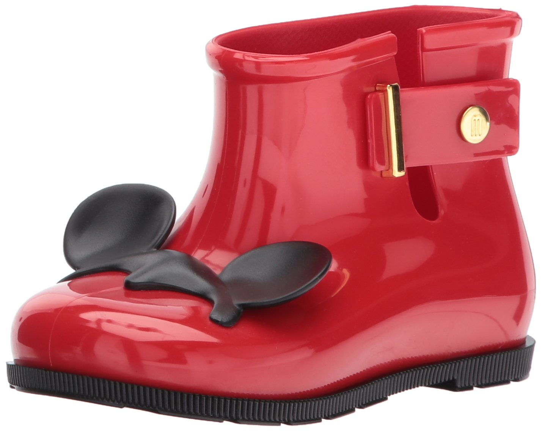 Mini Melissa Girls' Mini Sugar RAIN + Disney Twins Boot, Bordeaux, 10 Regular US Toddler
