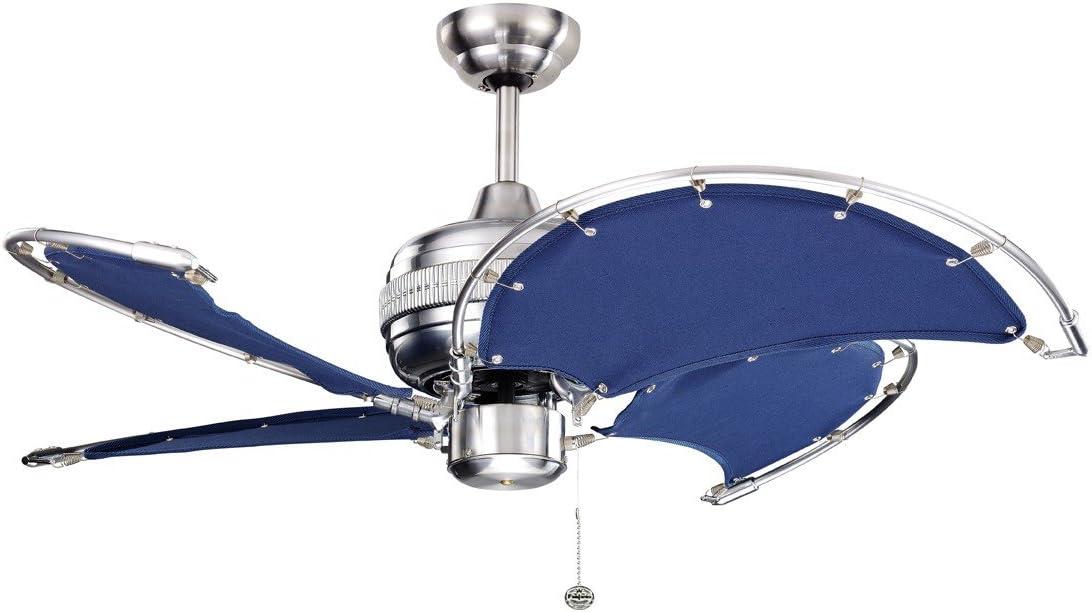 Ventilador de techo Spinnaker azul con interruptor de cordón, 102 cm