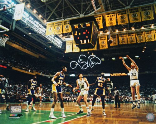 Larry Bird Signed Autographed Celtics Action 16x20 Photo vs ()