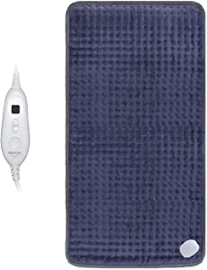 """XXX-Large(33"""" x 17"""") Heating Pad, Electric Heating Pad for Back Pain and Cramps Relief,Moist and Dry Heat Therapy,6 Heat Levels with Auto-Off,Fast Soothe Muscle Cramps and Soreness Heated Pad"""