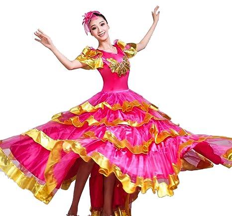 SMACO Danza del Vientre de Las Mujeres,Tribal Falda Flamenco ...