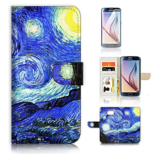 Hot Sale ( For Samsung Galaxy S7 ) Flip Wallet Case Cover & Screen Protector Bundle! AC0395 Starry Night - Sale Australia