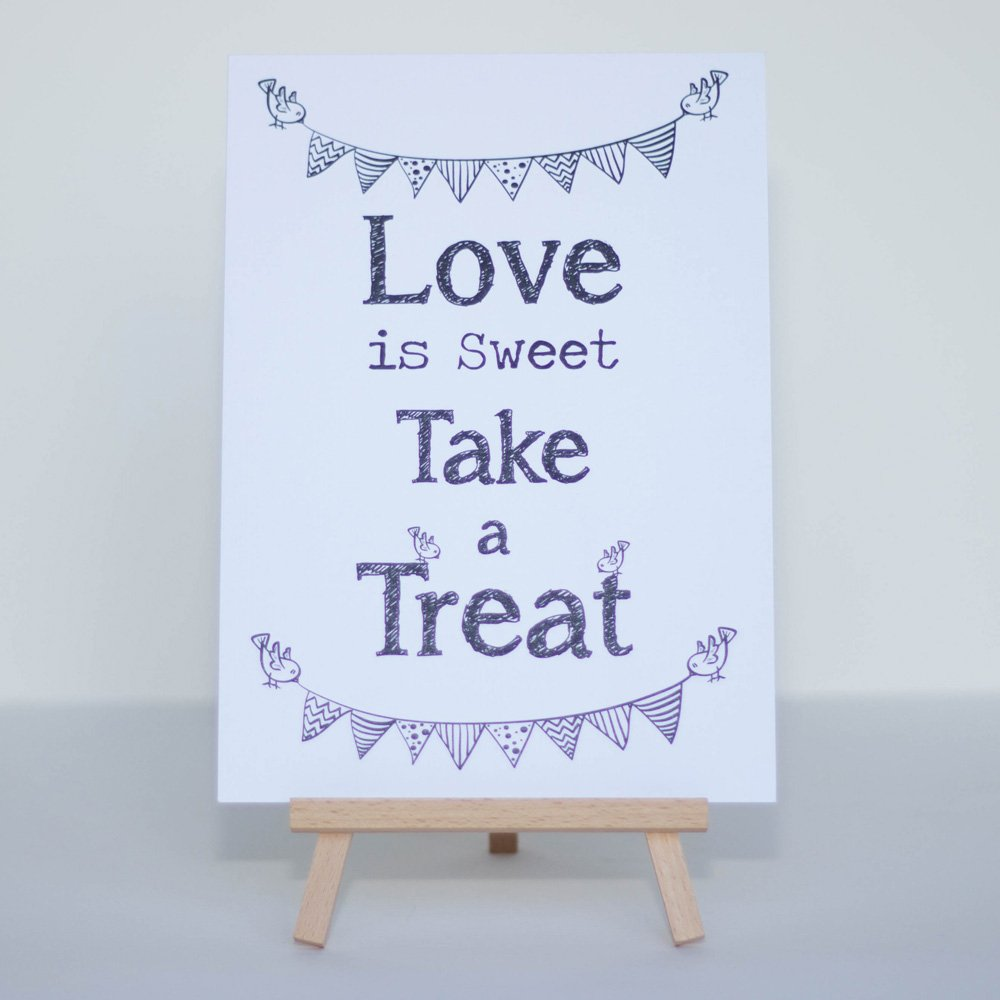 Amazon.com: Candy Sweet Bar Sign White Love Is Sweet Sign ...