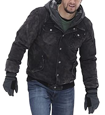 2be2918d838 Spazeup Daddys Home 2 Mark Wahlberg Dusty Cotton Black Jacket at ...
