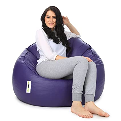 Can Mudda Bean Bag Chair Without Beans (Purple)