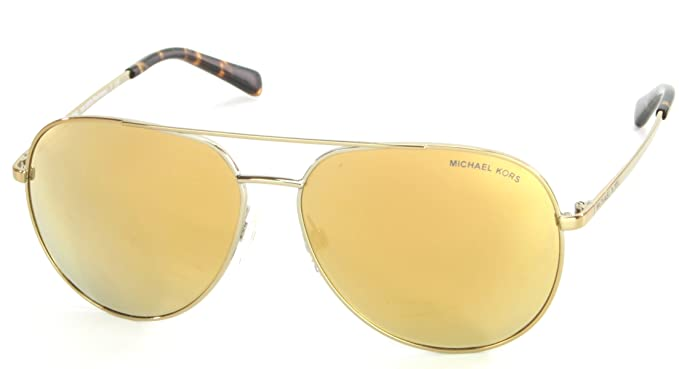 01e6e62df51 Michael Kors Rodinara Aviator Mirror Lens Sunglasses (Gold